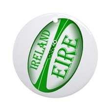 Eire Ireland Rugby Ornament (Round)