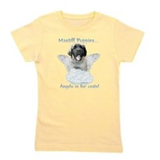 Unique French bulldog angels in fur coats Girl's Tee