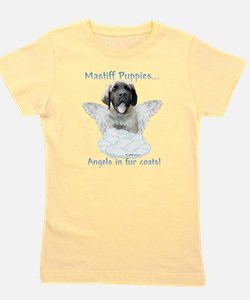 Funny French bulldog angels in fur coats Girl's Tee