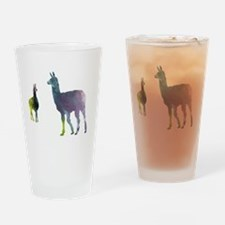 Funny Llama Drinking Glass