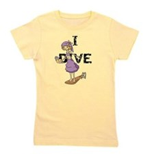 Cute Swimming and diving Girl's Tee