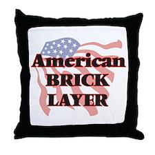 American Brick Layer Throw Pillow