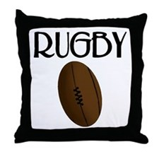 Rugby Ball Throw Pillow