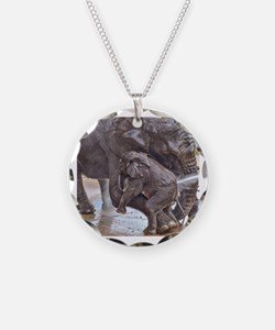 BABY ELEPHANT BATH TIME WITH Necklace