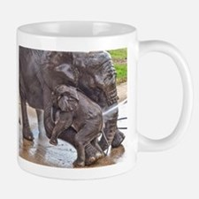 BABY ELEPHANT BATH TIME WITH MOTHER Mugs