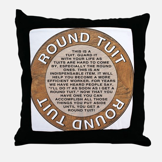 roundtuit.png Throw Pillow