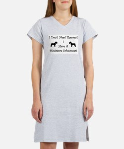 Unique Black and white dog photos Women's Nightshirt