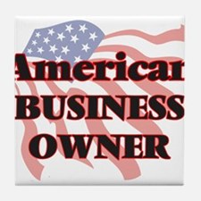 American Business Owner Tile Coaster