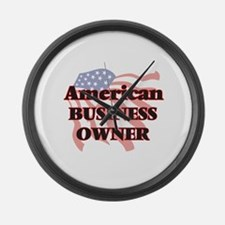 American Business Owner Large Wall Clock