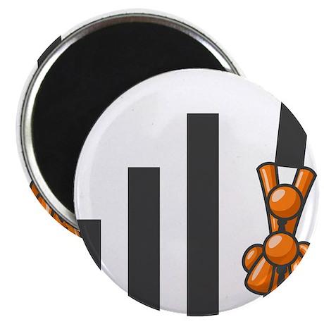 Orange Men Teamwork Magnet