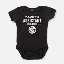 Daddy's Assistant Volleyball Coach Baby Bodysuit