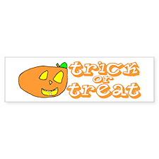 Trick-or-Treat Jack-O-Lantern Bumper Bumper Sticker