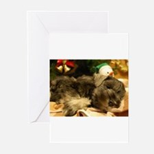 Cute Miniature schnauzer christmas Greeting Cards (Pk of 20)