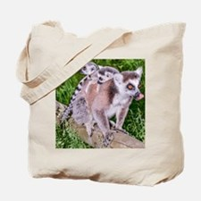 RING TAILED LEMUR MOTHER AND BABIES Tote Bag