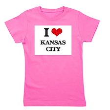 Cute Kansas city Girl's Tee