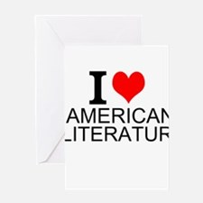 I Love American Literature Greeting Cards