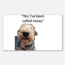 Nosey Airedale Terrier Always Nosing Decal