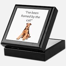 Airedale Terrier Swears He was Framed Keepsake Box