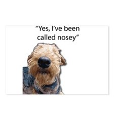 Nosey Airedale Terrier Al Postcards (Package of 8)