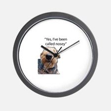 Nosey Airedale Terrier Always Nosing Wall Clock