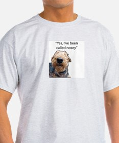 Nosey Airedale Terrier Always Nosing T-Shirt