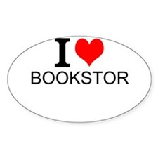 I Love Bookstores Decal