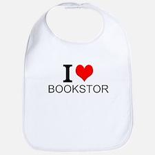 I Love Bookstores Bib