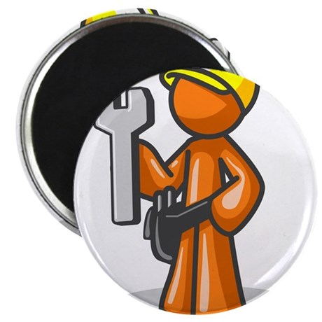 Orange Man Construction Worke Magnet