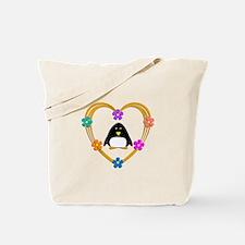 Penguin Heart Tote Bag