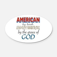 Funny Grace Oval Car Magnet