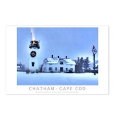 Chatham, Cape Cod Christm Postcards (package Of 8)