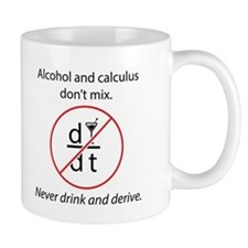 Cute Calculus alcohol don%27t mix Mug
