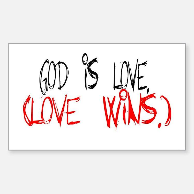 Cute God wins Decal