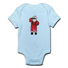 glitter black santa claus Body Suit