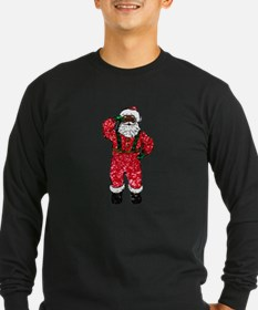glitter black santa claus Long Sleeve T-Shirt