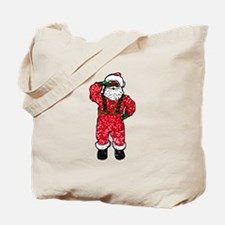 glitter black santa claus Tote Bag