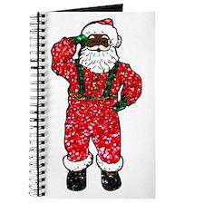 glitter black santa claus Journal