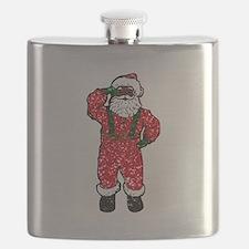 glitter black santa claus Flask