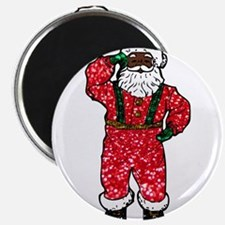 glitter black santa claus Magnets