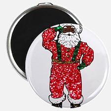 glitter black santa claus Magnets