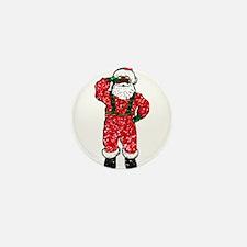 glitter black santa claus Mini Button (10 pack)