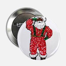 "glitter black santa claus 2.25"" Button"