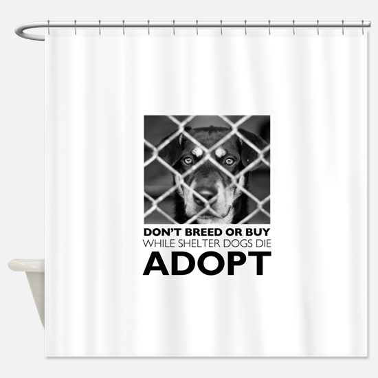 Shelter Dog Shower Curtain