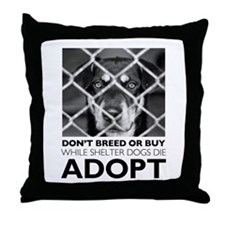 Shelter Dog Throw Pillow