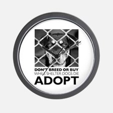 Shelter Dog Wall Clock