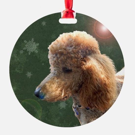 Unique Red poodle Ornament