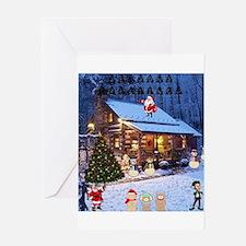 Log Cabin Christmas Greeting Cards