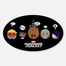 GOTG Circles Sticker (Oval)