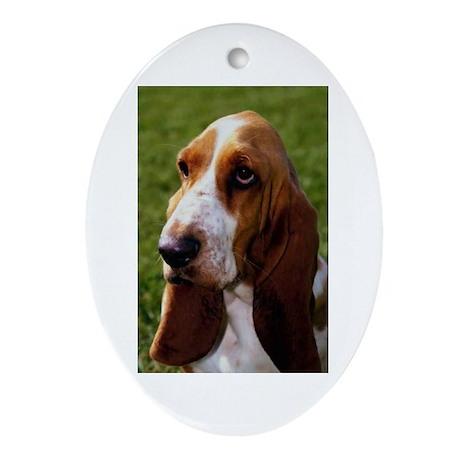 Basset Hound Oval Ornament