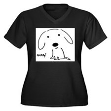 Cute Pets Women's Plus Size V-Neck Dark T-Shirt